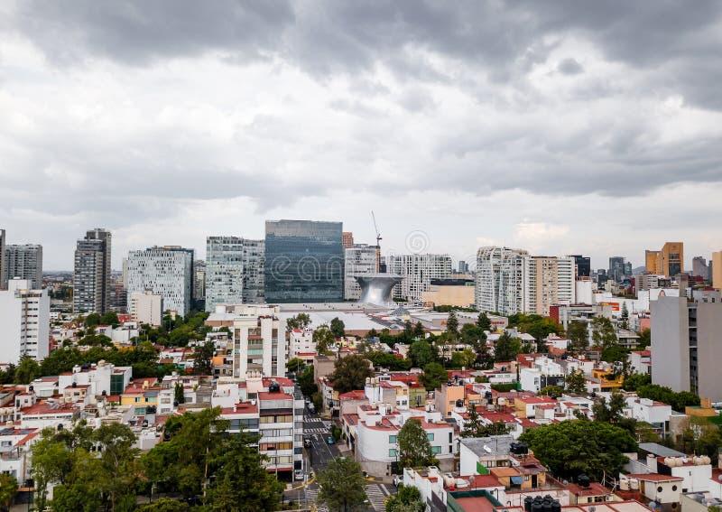 Взгляд Мехико панорамный - Polanco стоковые фотографии rf