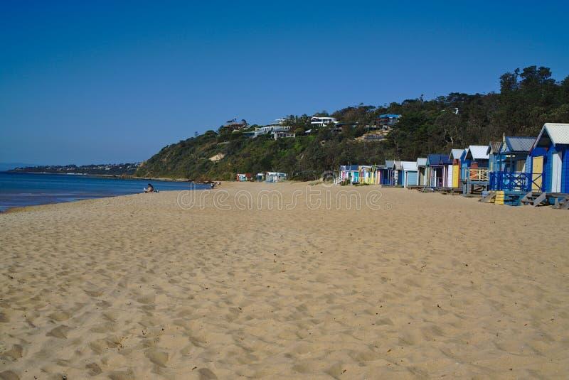 Взгляд мирного пляжа в Австралии стоковые фото