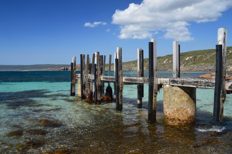 Взгляд молы на утесах канала в SW Австралии стоковая фотография rf