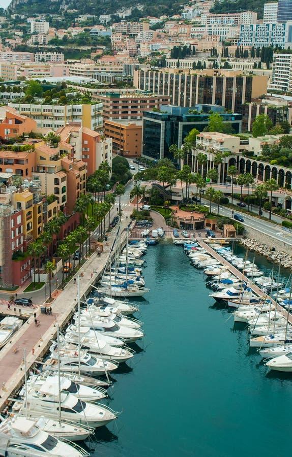 Взгляд Монако, Монте-Карло панорамный города стоковые изображения rf