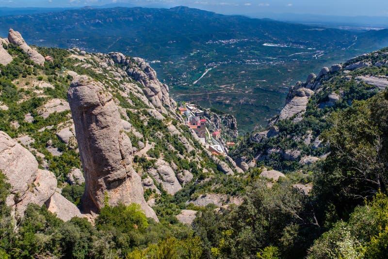 Взгляд монастыря Монтсеррата в Испании стоковая фотография rf