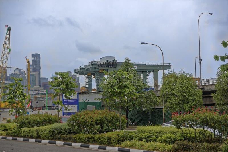 Взгляд морского порта Порт работает стоковые изображения