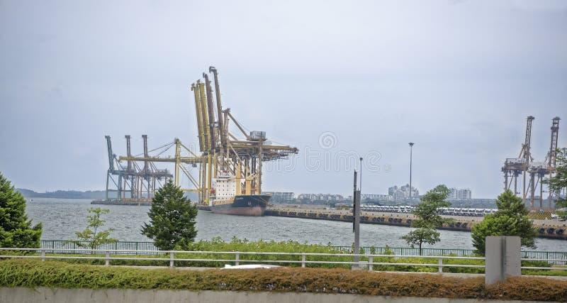 Взгляд морского порта Порт работает стоковые фотографии rf