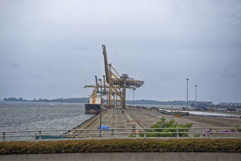 Взгляд морского порта Порт работает стоковое изображение