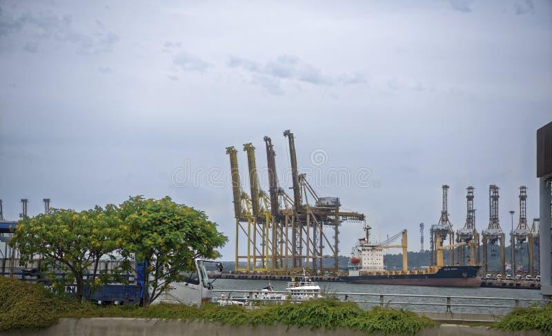 Взгляд морского порта Порт работает стоковое фото rf