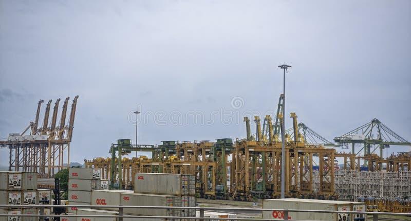Взгляд морского порта Порт работает стоковая фотография