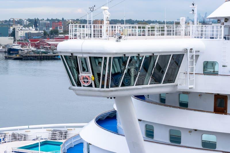 Взгляд моста на принцессе Круизе Изумруде принцессе туристическом судне стоковые изображения rf