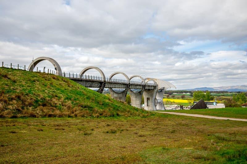 Взгляд мост-водовода колеса Falkirk стоковое изображение