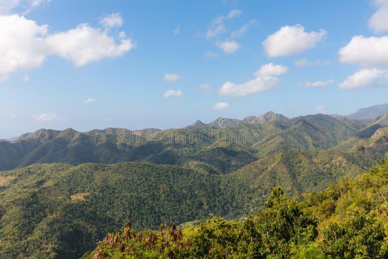 Взгляд над зоной guantanamo Кубой национального парка Alejandro de Гумбольдта Место всемирного наследия Unesco стоковое изображение