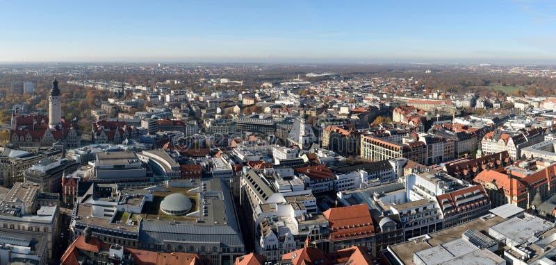 Взгляд над Лейпцигом, Германией стоковое изображение rf