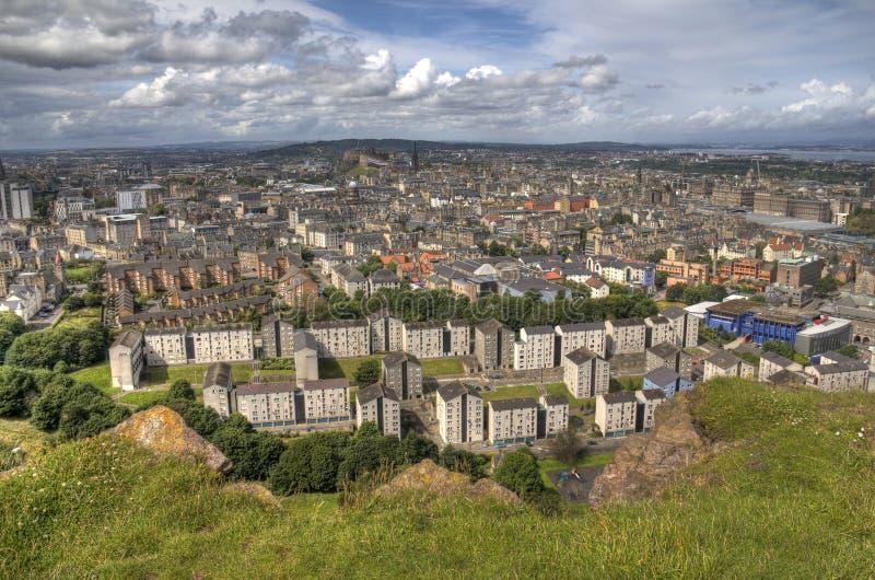 Взгляд над Эдинбург стоковое изображение