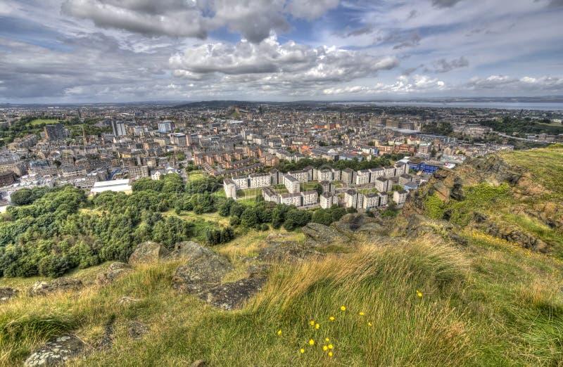 Взгляд над Эдинбург стоковое изображение rf