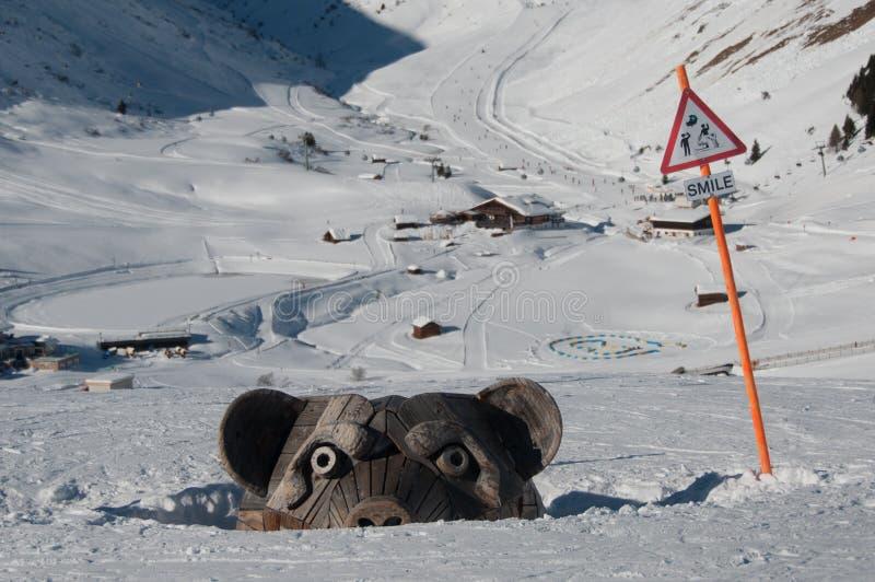 Взгляд наклонов лыжи стоковые изображения rf