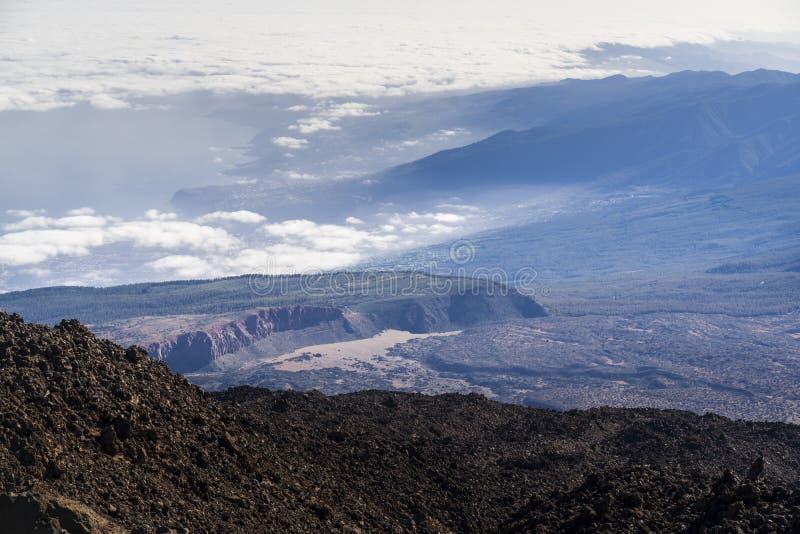 Взгляд национального парка вулкана El Teide в Тенерифе стоковые изображения rf