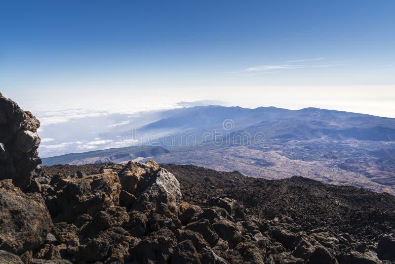 Взгляд национального парка вулкана El Teide в Тенерифе стоковые изображения