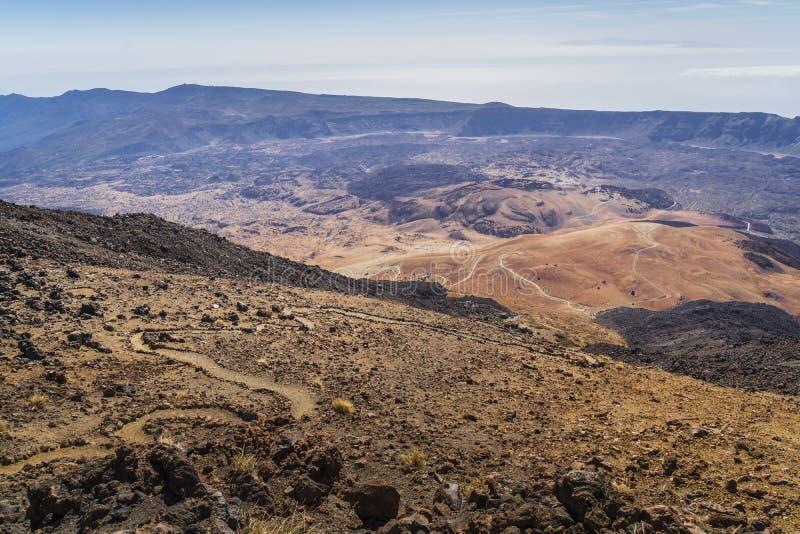 Взгляд национального парка вулкана El Teide в Тенерифе стоковое изображение rf