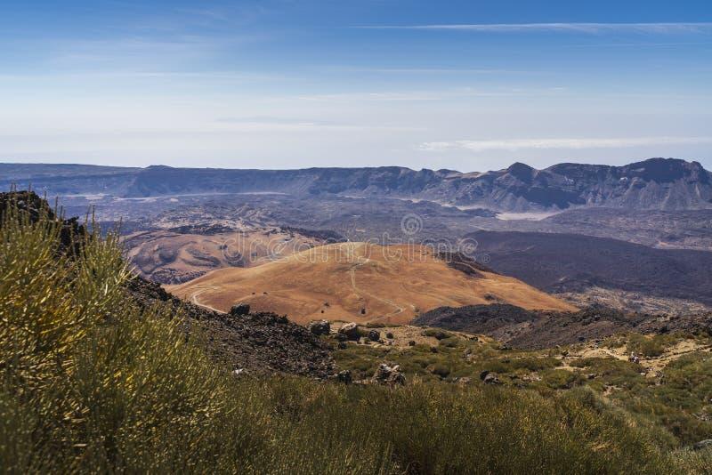 Взгляд национального парка вулкана El Teide в Тенерифе стоковое изображение