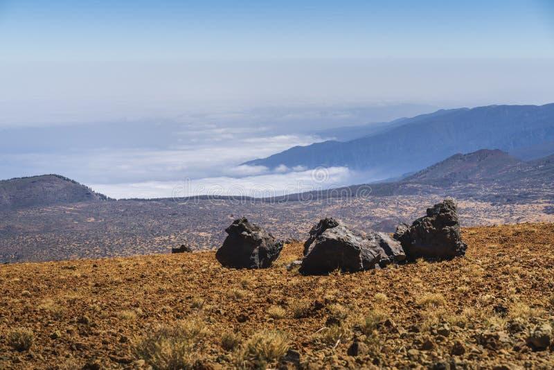 Взгляд национального парка вулкана El Teide в Тенерифе стоковая фотография rf