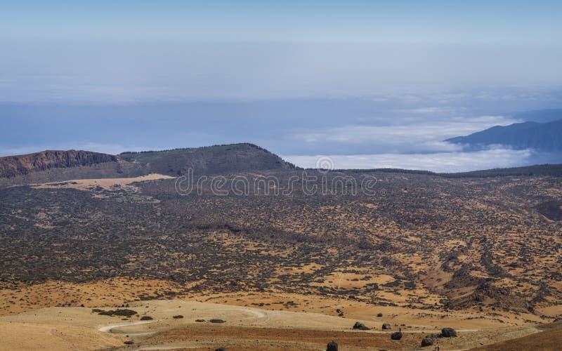 Взгляд национального парка вулкана El Teide в Тенерифе стоковое фото