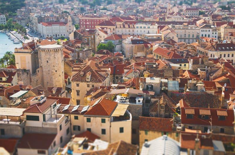 Взгляд на городе разделения стоковые изображения rf