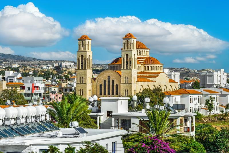 Взгляд на городе Paphos стоковая фотография rf