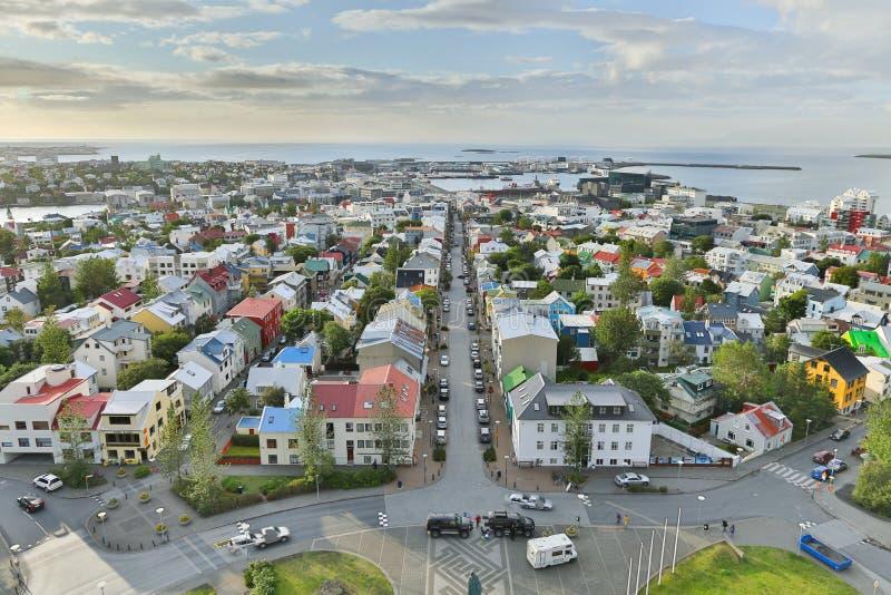 Взгляд на городе Reykjavik. стоковые фото