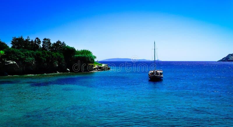 Взгляд на заливе в Creta стоковое фото