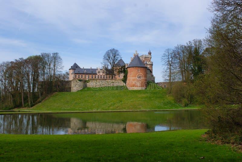 Взгляд на замке Gaasbeek около Брюсселя Бельгии стоковая фотография rf