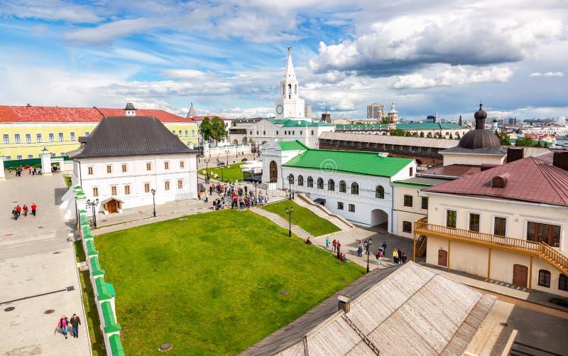 Взгляд на Казани Кремле от крепостной стены стоковое изображение rf