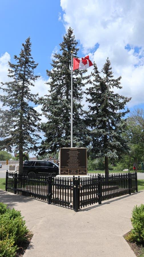 Взгляд на канадском флаге стоковая фотография rf