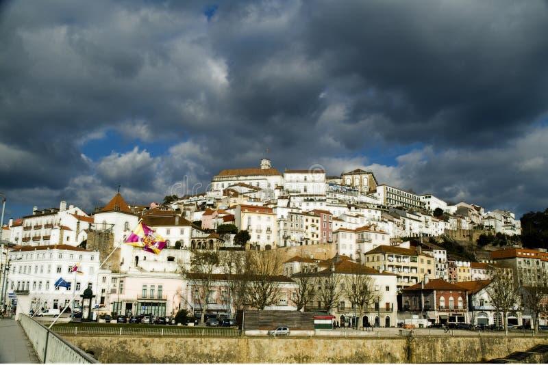 Взгляд на Коимбре, Португалии стоковое фото rf