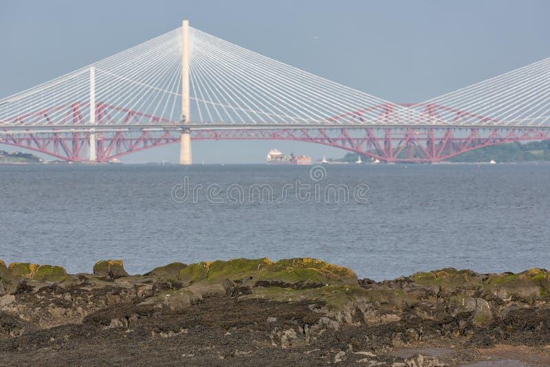 Взгляд на 3 мостах пересекая лиман вперед внутри Шотландии стоковые изображения