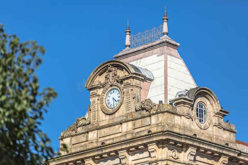 Взгляд на охвате вокзала бенто São, стиль детали изобразительных искусств стоковые изображения