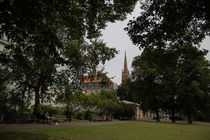 Взгляд на церков в Риге, Латвии стоковое изображение rf