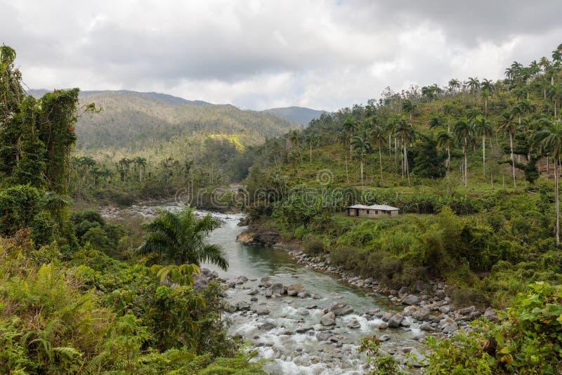 Взгляд на alejandro de Гумбольдте национального парка с рекой Кубой стоковая фотография