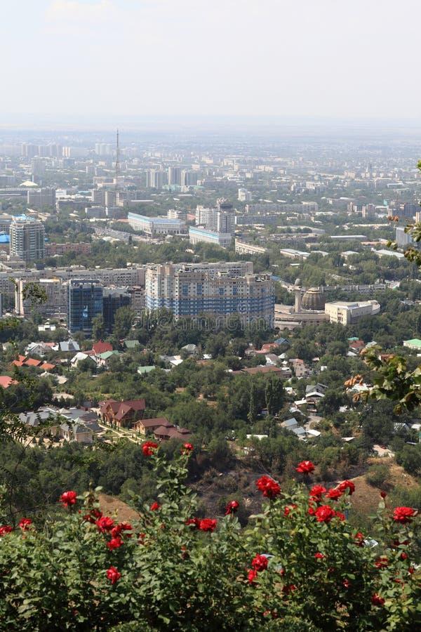 Взгляд на Almaty от держателя стоковые фотографии rf