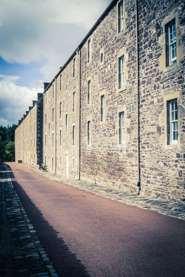 Взгляд нового места наследия Lanark, Lanarkshire в Шотландии, Великобритании стоковая фотография rf