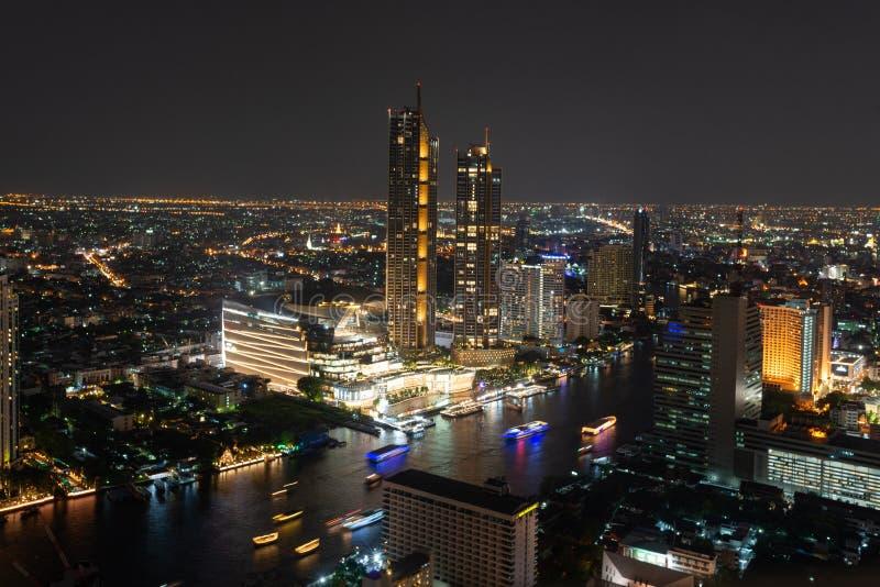Взгляд ночи Бангкока стоковые изображения rf