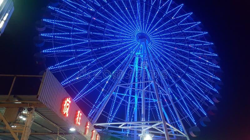 Взгляд ночи залива Zhapo стоковое фото