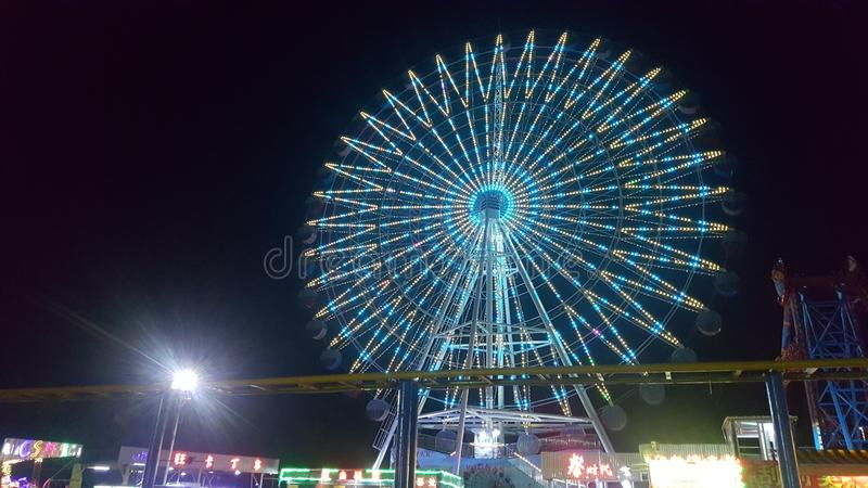 Взгляд ночи залива Zhapo стоковые фотографии rf