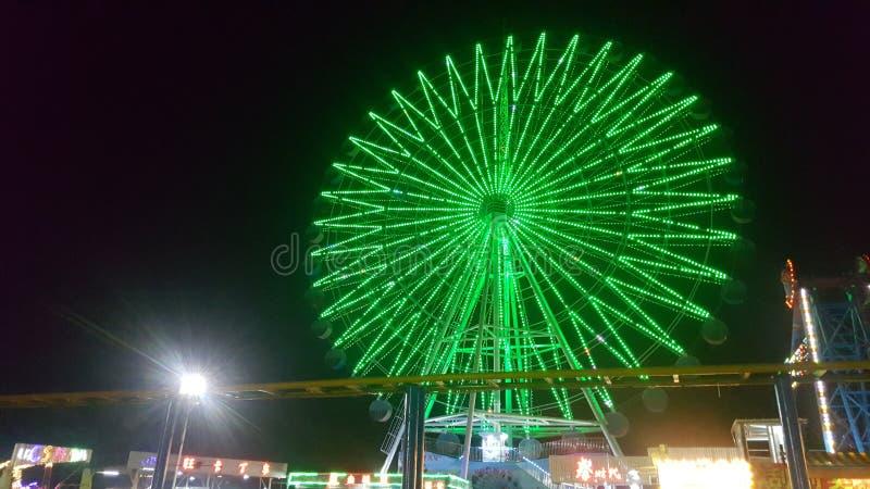 Взгляд ночи залива Zhapo стоковые изображения rf