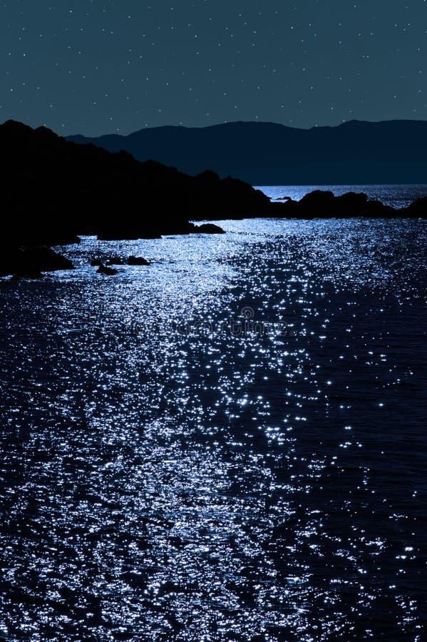 взгляд ночи Керри утесистый звёздный спокойный стоковое изображение