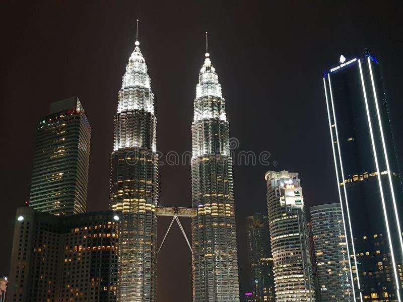 Взгляд ночи Куалаа-Лумпур стоковое фото rf