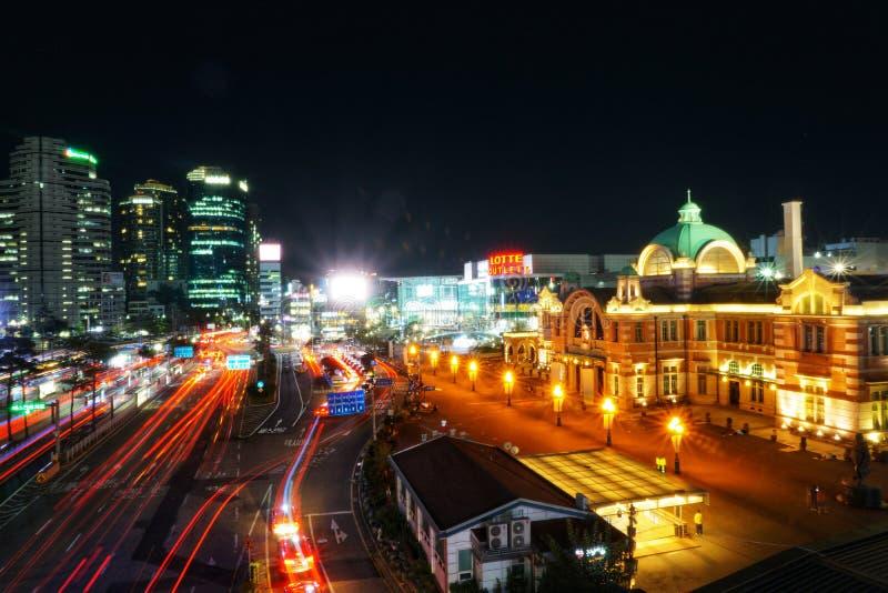 взгляд ночи Сеула стоковая фотография