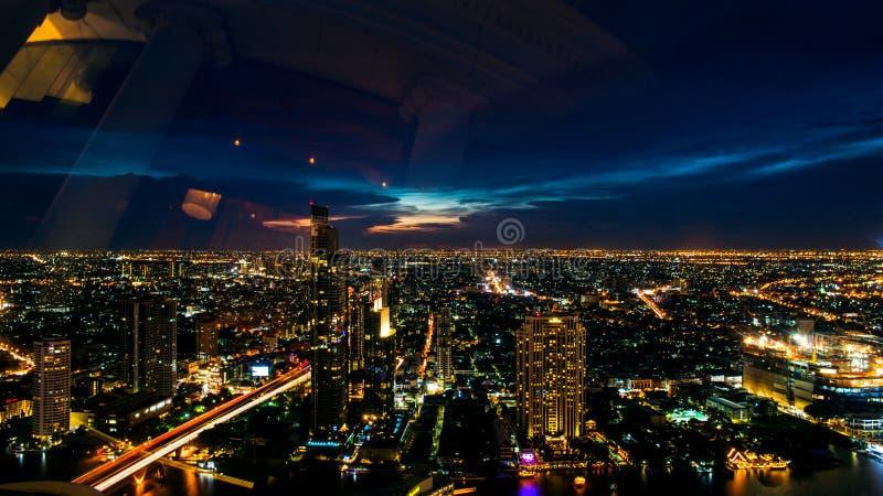 Взгляд ночи Таиланда стоковые изображения rf