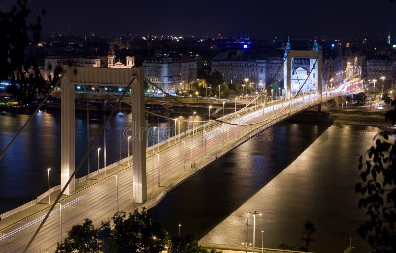взгляд ночи s elisabeth моста стоковое изображение