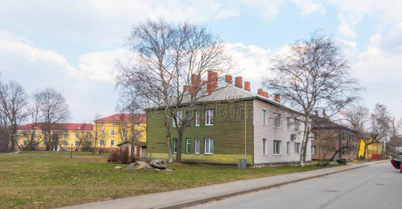 Взгляд области Эстонии Таллина Kopli distric стоковая фотография rf
