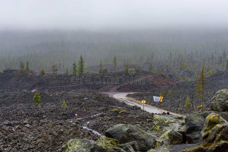 Взгляд обсерватории Dee Wright кроватей лавы стоковое фото