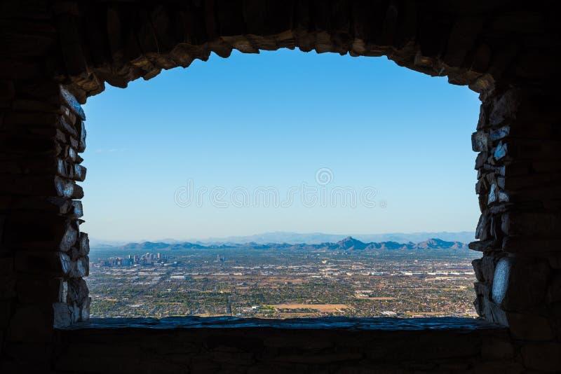 Взгляд окна Феникса стоковое изображение