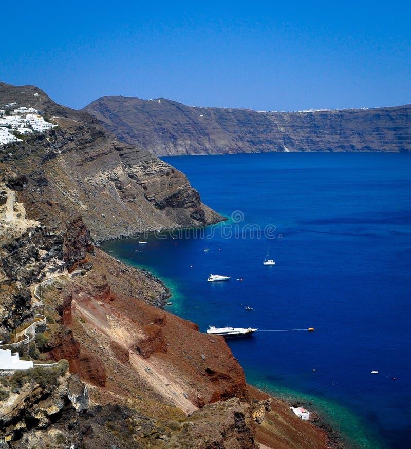 Взгляд острова Santorini стоковое изображение